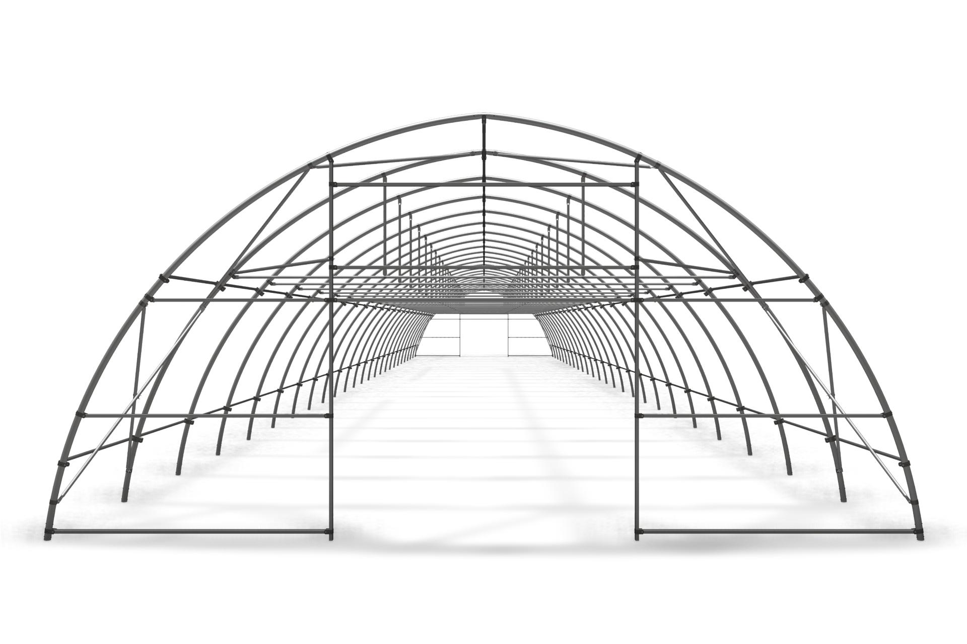Фермерская теплица туннельная арочная 8,0х4,0 м