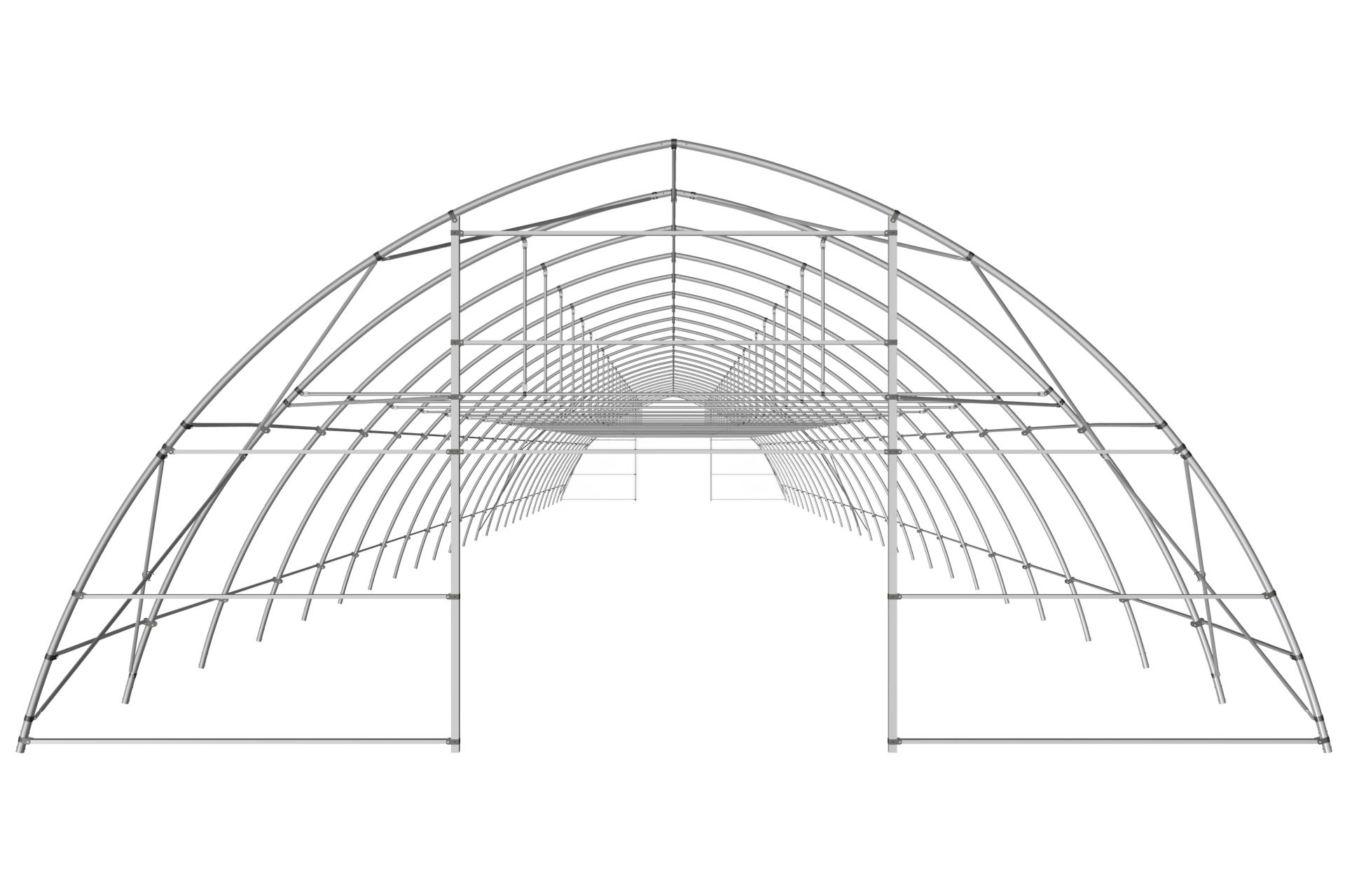 Фермерская теплица туннельная арочная 9,6х4,5 м